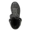 Skórzane trampki za kostkę zfuterkiem bata, szary, 593-2601 - 19