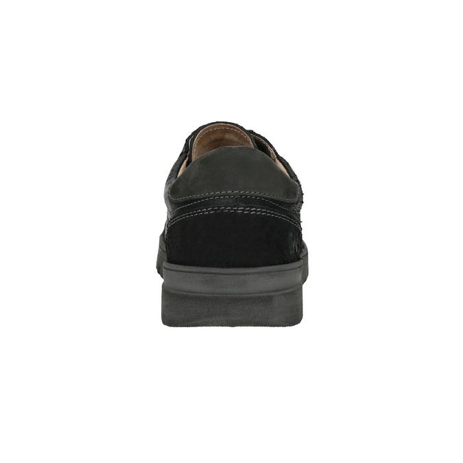 Męskie buty sportowe w codziennym stylu weinbrenner, czarny, 843-6620 - 17