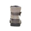 Dziecięce buty z lamówką z dzianiny mini-b, szary, 291-2154 - 17