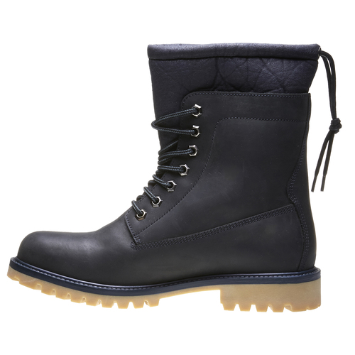 Skórzane ocieplane buty za kostkę conhpol, czarny, 894-6677 - 15