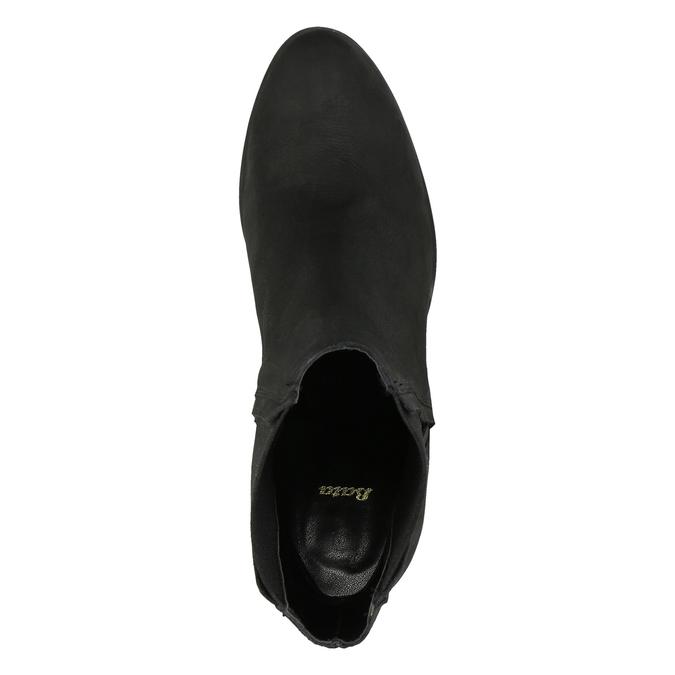 Damskie botki na masywnym obcasie bata, czarny, 796-6634 - 19