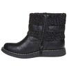 Dziecięce buty z dzianiną mini-b, czarny, 291-6154 - 19