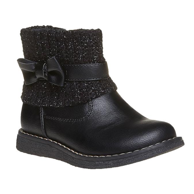 Dziecięce buty z dzianiną mini-b, czarny, 291-6154 - 13