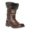 Skórzane kozaki damskie zfuterkiem bata, brązowy, 594-4612 - 13