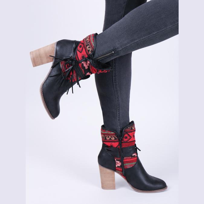 Ocieplane botki w stylu kowbojskim bata, czarny, 699-6603 - 15