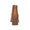 Skórzane kozaki do kostki z elastycznymi bokami vagabond, brązowy, 794-3003 - 17