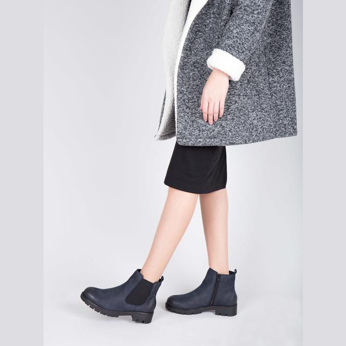 Botki damskie bata, niebieski, 696-9606 - 18
