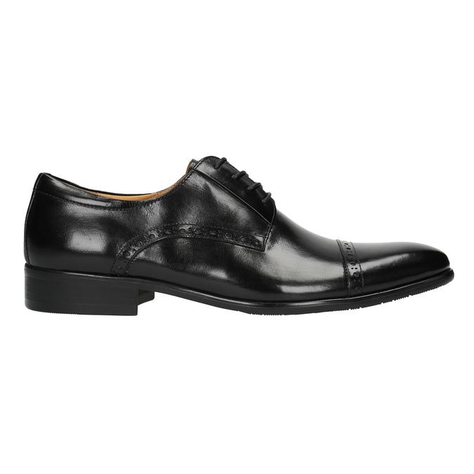 Męskie półbuty ze skóry, ze zdobieniami bata, czarny, 824-6640 - 15
