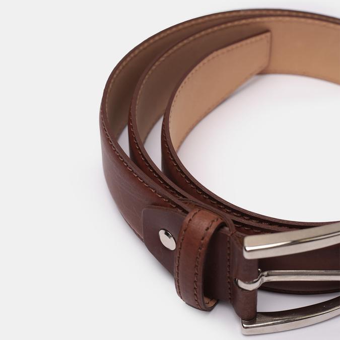 Brązowy skórzany pasek męski bata, brązowy, 954-3170 - 16