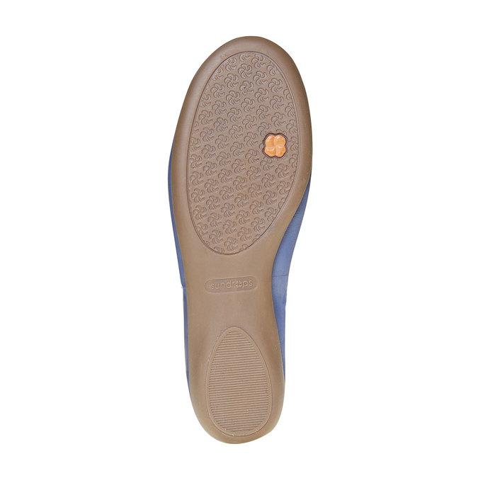 Damskie skórzane baleriny bata, niebieski, 524-9485 - 26