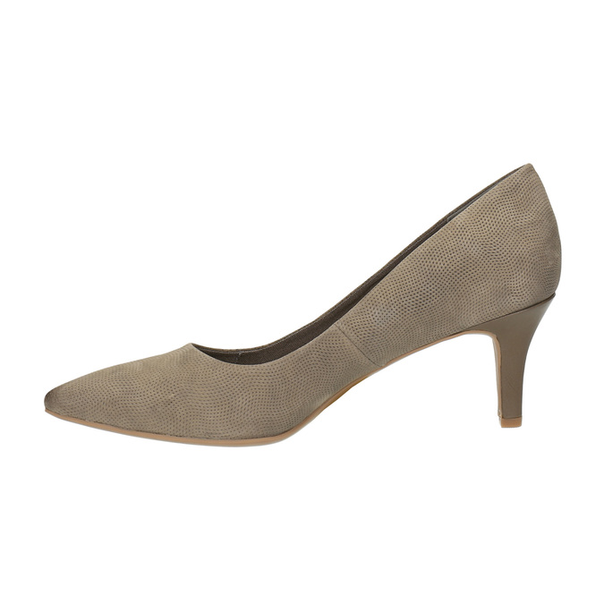 Czółenka damskie na średnio wysokim obcasie bata, brązowy, 626-2601 - 26