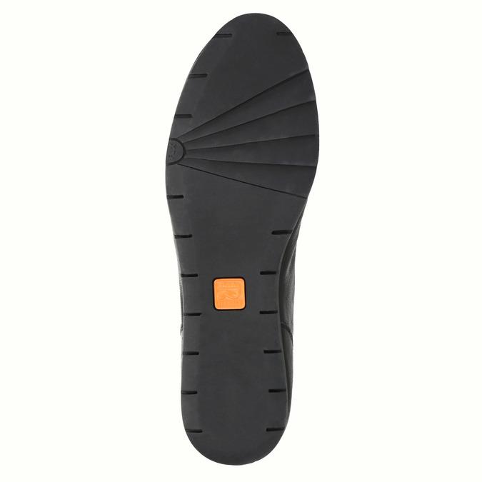 Damskie skórzane półbuty flexible, czarny, 524-6565 - 26