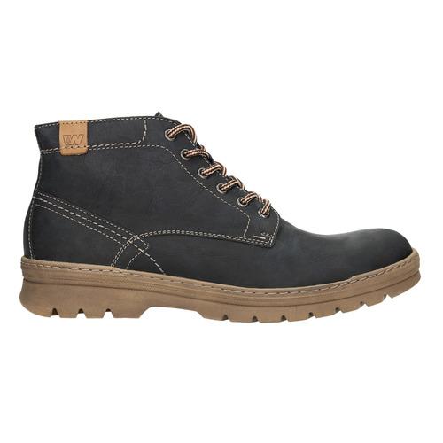 Skórzane zimowe buty męskie weinbrenner, czarny, 896-6107 - 26