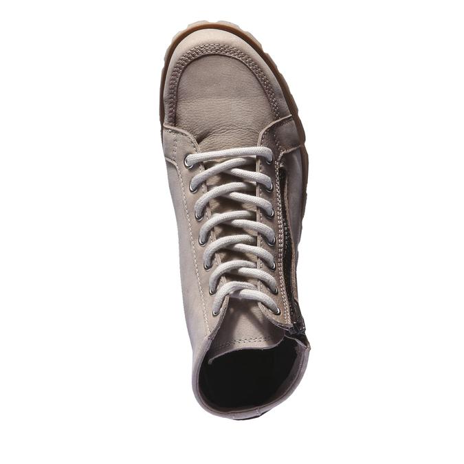 Designerskie buty skórzane weinbrenner, brązowy, szary, 544-2145 - 19