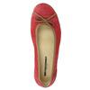 Skórzane baleriny na co dzień weinbrenner, czerwony, 526-5503 - 19