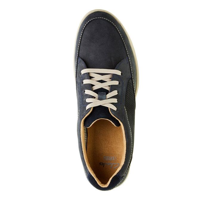 Męskie buty z zamszu clarks, niebieski, 826-9006 - 19