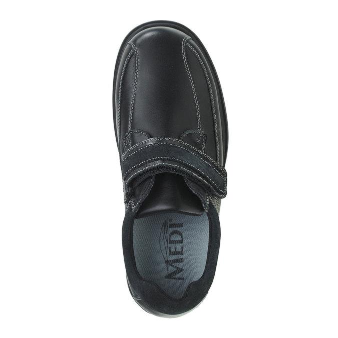 Trampki skórzane bata, czarny, 834-6001 - 19