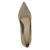 Czółenka damskie na średnio wysokim obcasie bata, brązowy, 626-2601 - 19