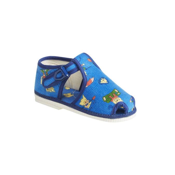 Kapcie dziecięce do kostki bata, niebieski, 179-9210 - 13