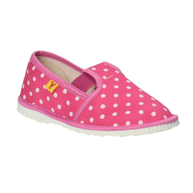 Domowe buty dla dziewcząt w kropki bata, różowy, 279-5103 - 13