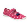 Dziecięce buty domowe z paskiem w poprzek podbicia mini-b, różowy, 379-5209 - 13