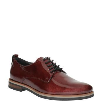 Półbuty angielki damskie bata, czerwony, 528-5600 - 13