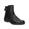 Zimowe skórzane buty damskie bata, czarny, 594-6347 - 13