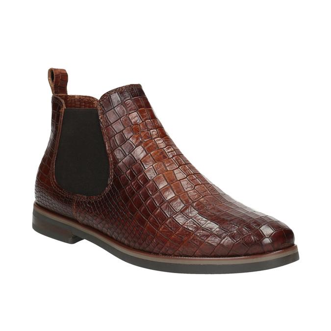 Chelsea boots ze skóry bata, brązowy, 596-4606 - 13