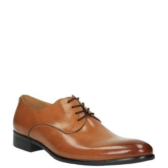 Brązowe angielki ze skóry bata, brązowy, 824-3648 - 13