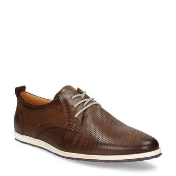 Skórzane buty sportowe na co dzień bata, brązowy, 824-4124 - 13