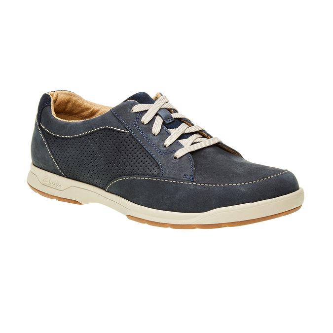 Męskie buty z zamszu clarks, niebieski, 826-9006 - 13