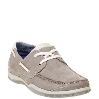 Skórzane mokasyny w codziennym stylu bata, szary, 856-2176 - 13