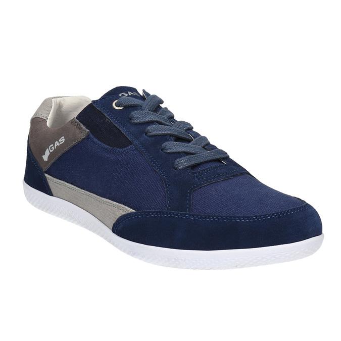Męskie buty sportowe w codziennym stylu gas, niebieski, 849-9628 - 13