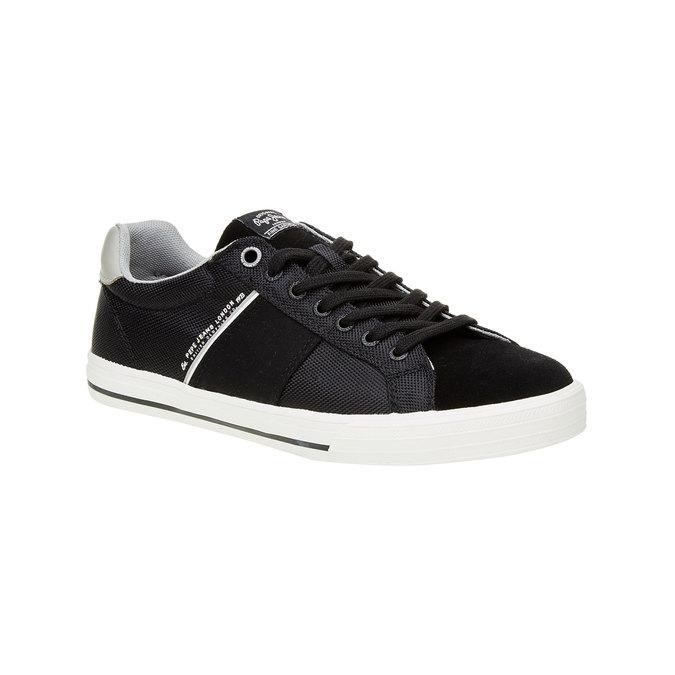 Męskie tenisówki w czarnym kolorze pepe-jeans, czarny, 849-6008 - 13