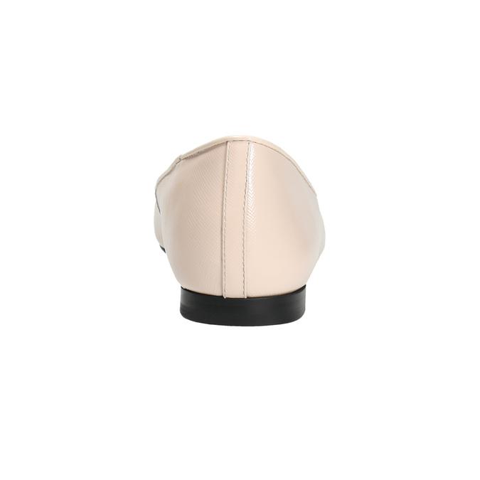 Baleriny damskie ze skóry bata, różowy, 528-5630 - 17