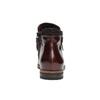 Buty za kostkę ze skóry z suwakami bata, czerwony, 596-5605 - 17