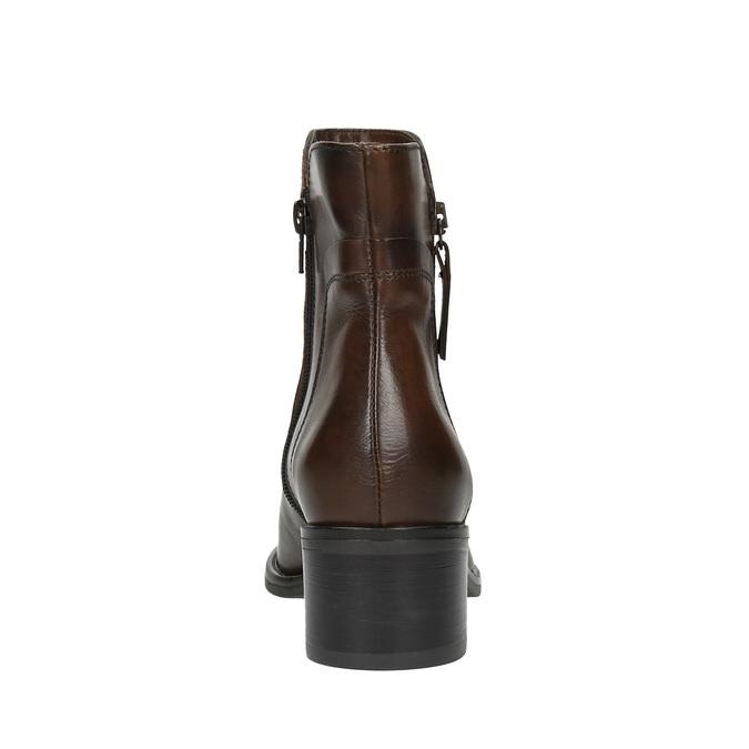 Buty ze skóry za kostkę z suwakami bata, brązowy, 694-4600 - 17