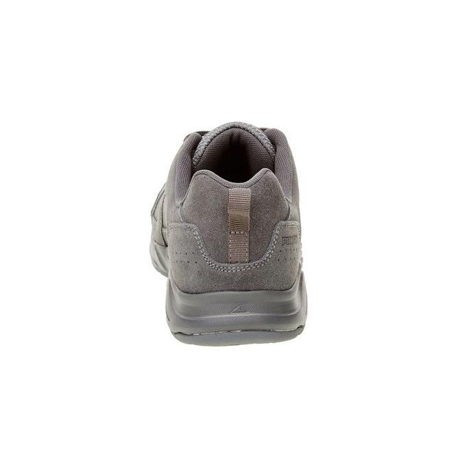 Skórzane buty sportowe power, szary, 803-2114 - 17