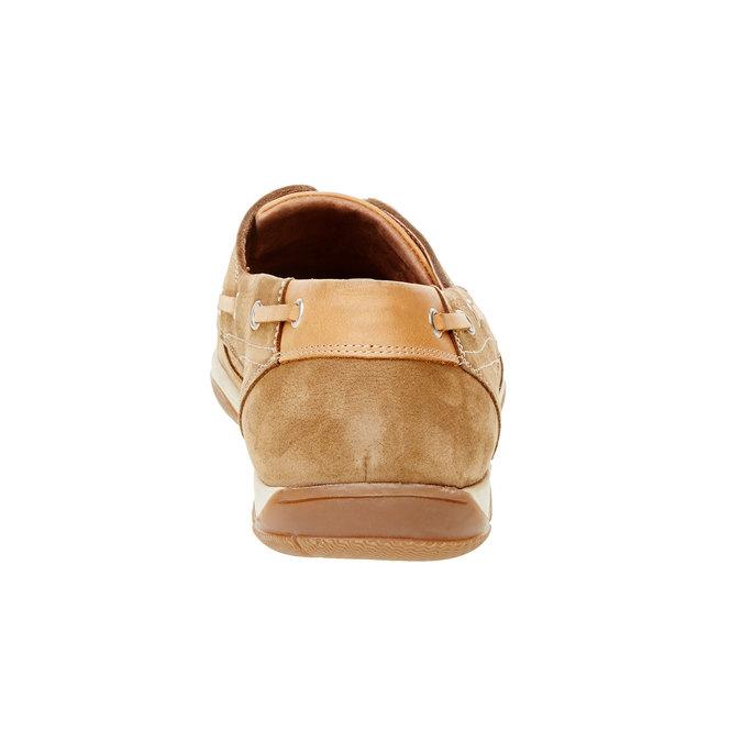 Skórzane mokasyny w codziennym stylu bata, brązowy, 856-3176 - 17