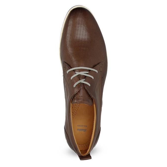 Skórzane buty sportowe na co dzień bata, brązowy, 824-4124 - 17