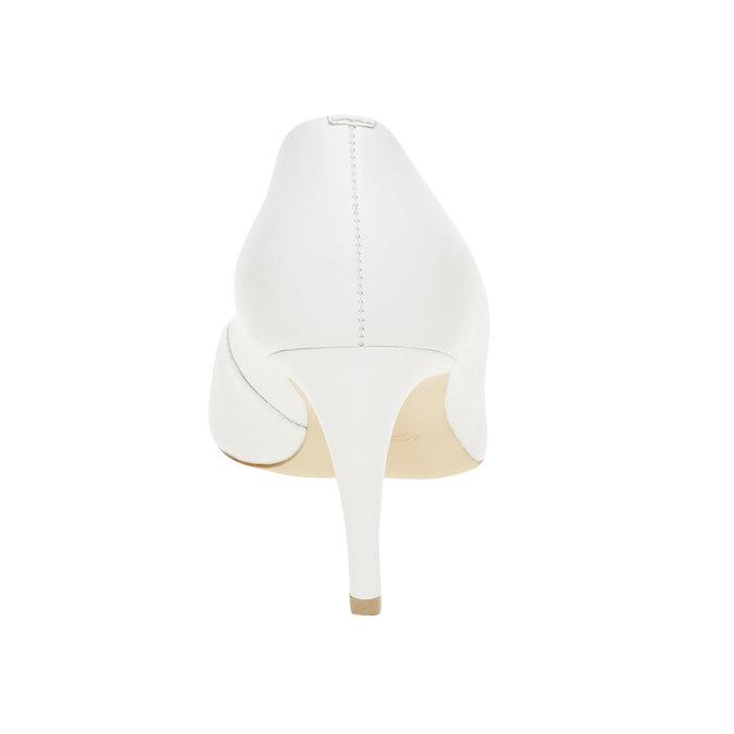 Białe skórzane czółenka bata, biały, 724-1400 - 17