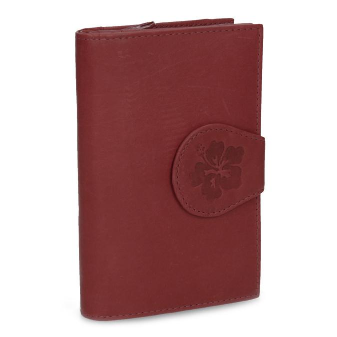 Damski skórzany portfel bata, czerwony, 944-5155 - 13