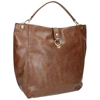 Brązowa torba w stylu Hobo bata, brązowy, 961-3808 - 13