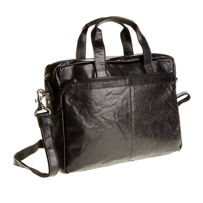 Skórzana torba bata, czarny, 964-6153 - 13