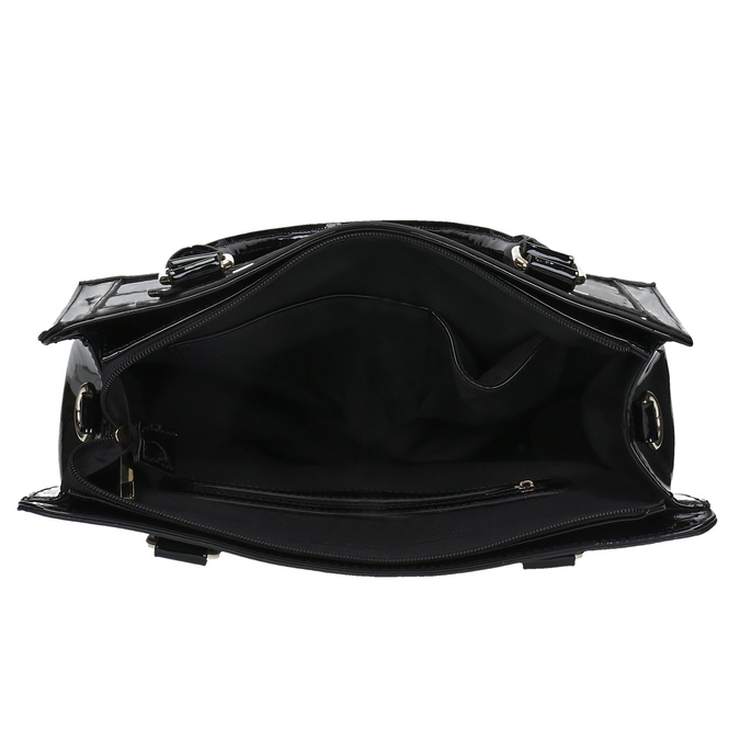 Czarna torebka ze złotymi detalami bata, czarny, 961-6610 - 15