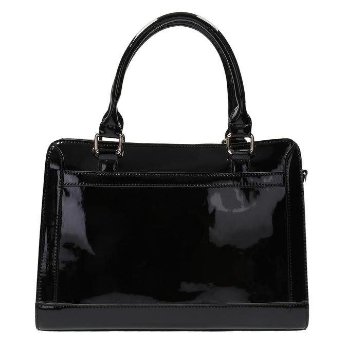 Czarna torebka ze złotymi detalami bata, czarny, 961-6610 - 19