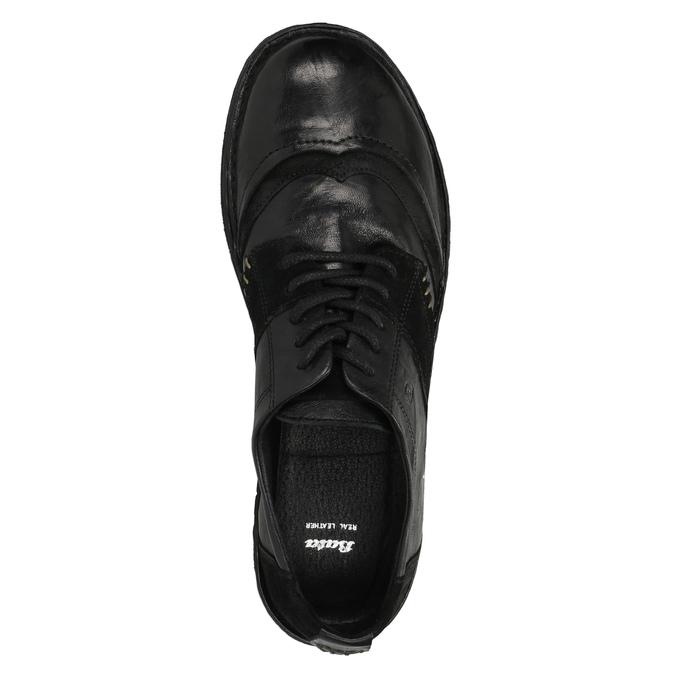 Damskie skórzane buty sportowe bata, czarny, 526-6601 - 19