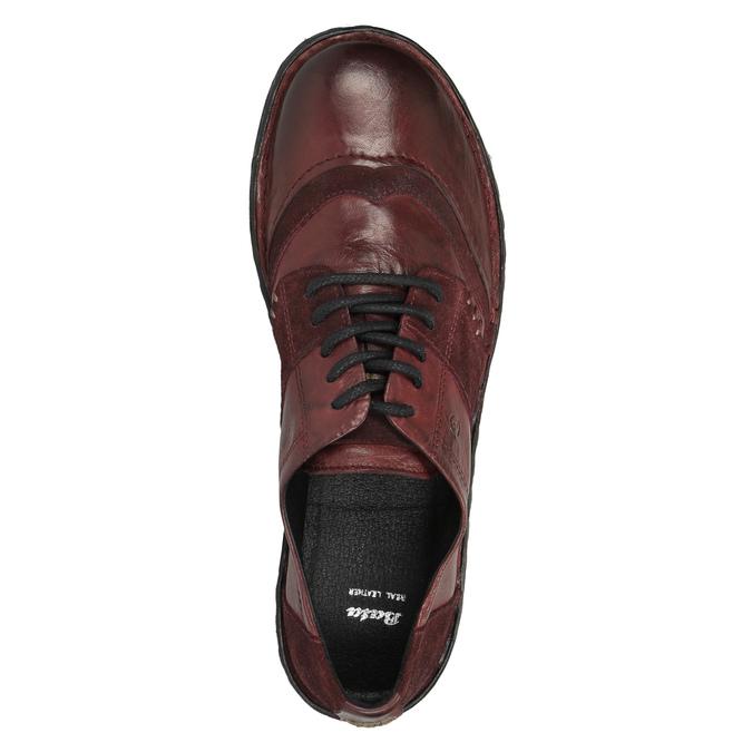 Damskie skórzane buty bata, czerwony, 526-5601 - 19