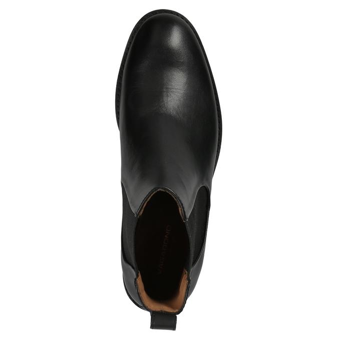 Czarne skórzane botki damskie typu chelsea vagabond, czarny, 514-6008 - 19