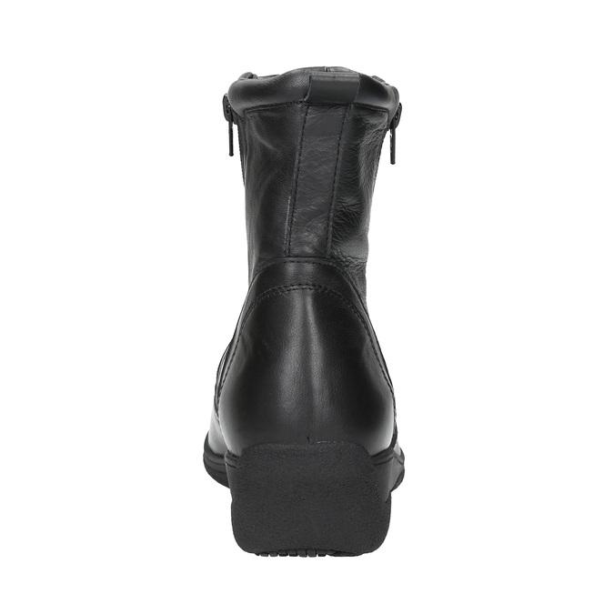 Ocieplane botki ze skóry bata, czarny, 594-6634 - 17